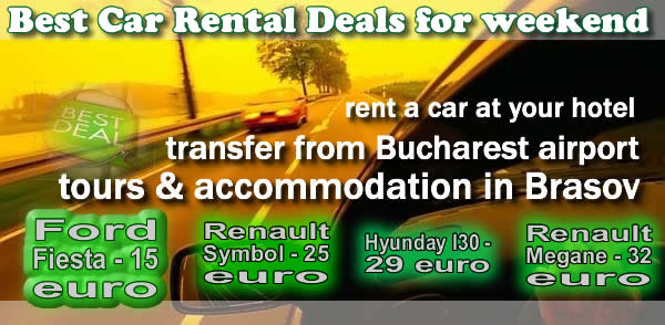 Car rental romania - airport transfer to/from your hotel. We offer auto hire with driver.